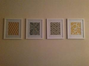 Framed fabric wall art for the home