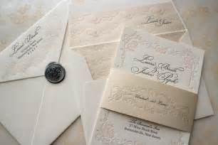 wedding invitation design ideas floral letterpress wedding invitations onewed