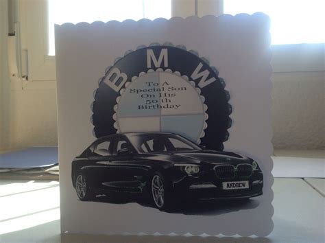 sons   birthday card surprise    bmw man