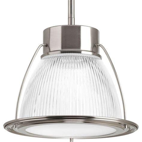 led glass pendant lights progress lighting 1 light brushed nickel integrated led