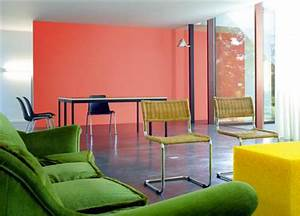 Photo Peinture Salon : peinture salon orange une couleur tonique ~ Melissatoandfro.com Idées de Décoration