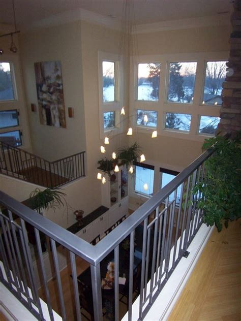 Two Story Contemporary Dining Room