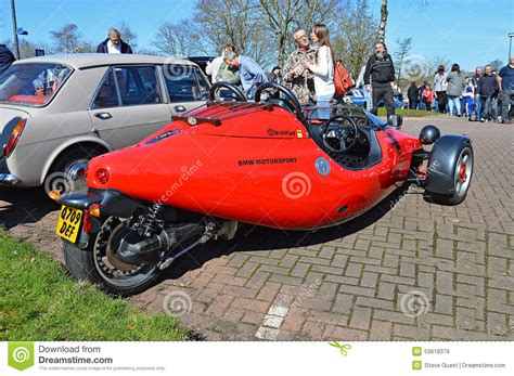 A Bmw Three Wheeler Car Editorial Stock Image. Image Of