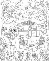 Coloring Camping Printable Sheets Adult Dekker Silvia Camper Kleurplaten Magazine Theme Coloriage Flow Vacances Colouring Caravan Hiking Rocks Coloriages Imprimer sketch template