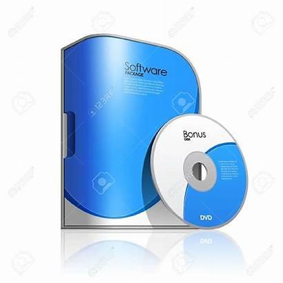 Software Box Clipart Cd License Vector Clip