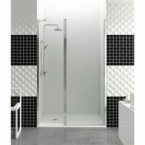 paroi de douche porte battante helia d 90 cm robinet and co With porte battante douche 90