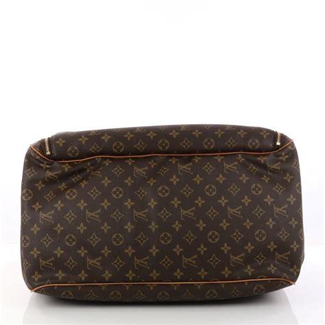 louis vuitton evasion sports large golf luggage carry  brown monogram weekendtravel bag tradesy