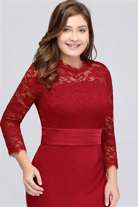 MisShow Women's Retro Floral Lace 3/4 Sleeve Slim Ruched ...