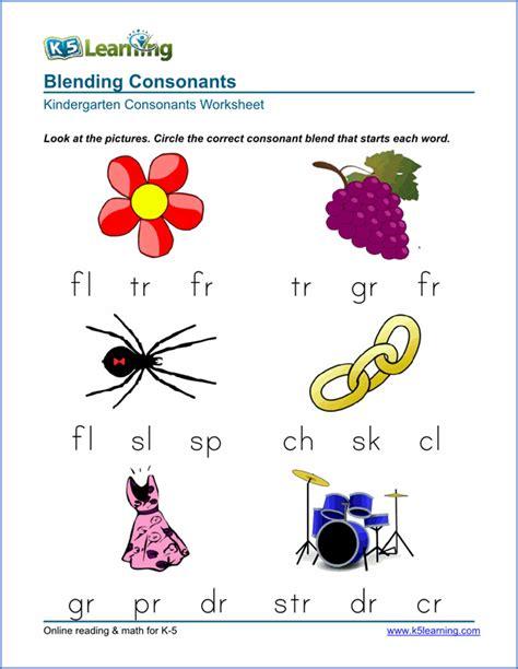 free preschool kindergarten consonants worksheets