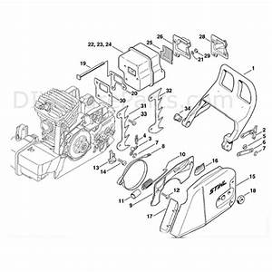 Stihl Ms 290 Chainsaw  Ms290  Parts Diagram  Chain Brake