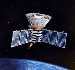 COBE Satellite in Orbit
