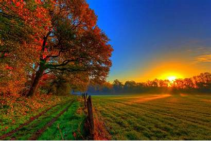 Fall Farm Wallpapers Sunlight Autumn Backgrounds Background