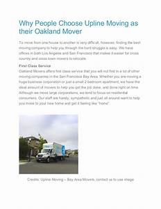 Why people choose upline moving as their oakland mover