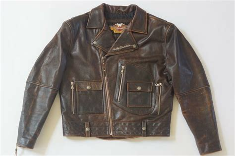 Harley Davidson Men's Brown Distressed Leather Vintage