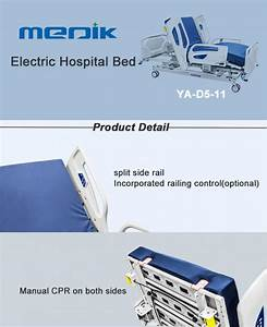 5 Function Full Electric Hospital Bed With Collapsible Abs