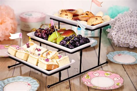 amazoncom kenley  tier serving tray tiered stand  tiered cake cupcake appetizer
