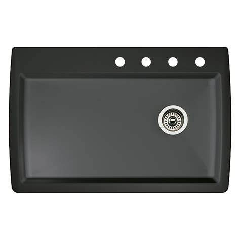 blanco kitchen sinks drop in shop blanco anthracite single basin drop in or