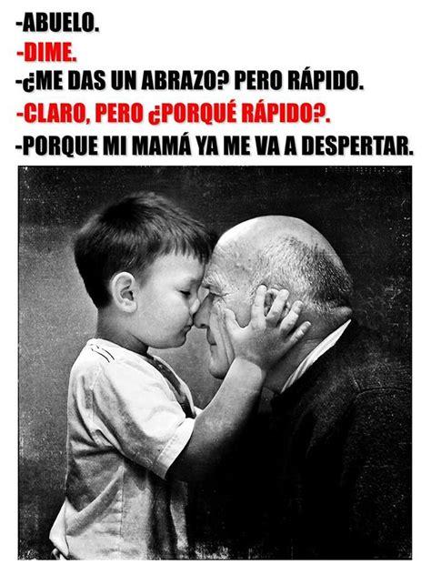 imagen emotiva de abuelos no hay palabras