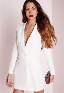 long sleeve blazer dress white dresses missguided With robe blazer blanche