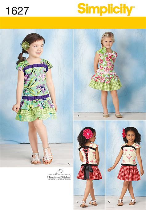 Simplicity 1627 Child's Top & Skirt