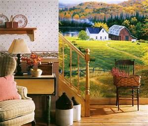 Golden Countryside Full Wall Mural