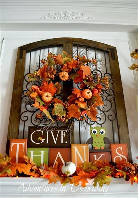 Adventures In Decorating Mantel by Adventures In Decorating Our Fall Mantel