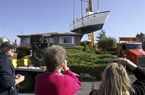 Backyard Boatbuilding by Tacoma Spent 25 Years Building Back Yard Boat The