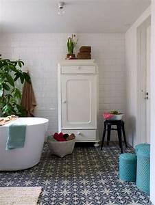 salle de bains avec carreaux de ciment cote maison With carreaux de ciment sdb