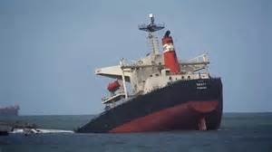 Images Of Titanic Sinking by Mv Smart Broken In Two At Richards Bay Port Youtube