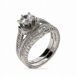 Beautiful sterling silver vintage cz wedding set for Vintage wedding rings sets