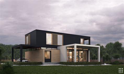 TRESK HOUSE on Behance Modern architecture building