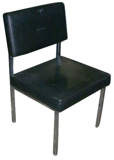mid century modern all steel dining office side chair ebay