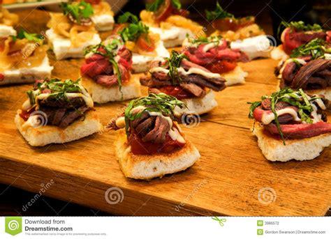 Tenderloin Appetizers Stock Photo Image Of Basil