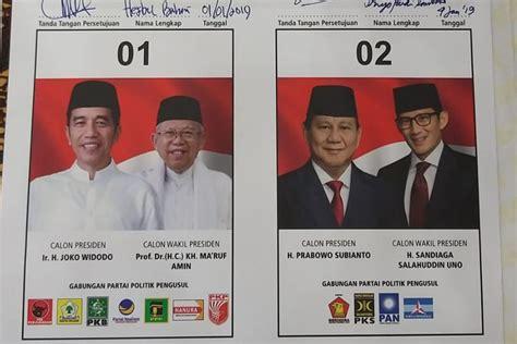 Pilpres 2019: Kertas Pemilu Presiden 2019