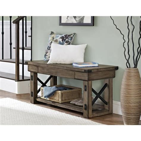 Entrance Bench by Entryway Storage Bench Foyer Hallway Entry Table Furniture