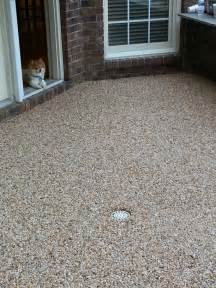 epoxy pebble patio floor outdoors