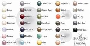 Swarovski Pearls Color Chart Färgkarta Love And Be Proud