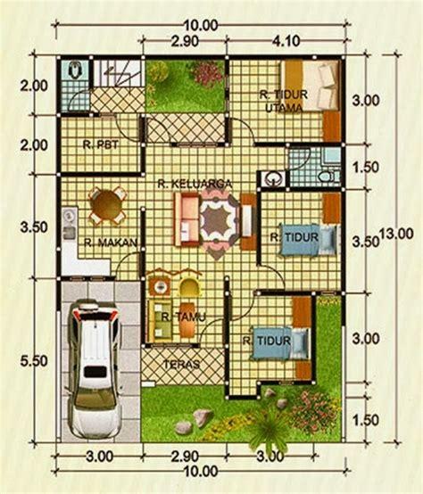 gambar desain rumah ukuran    meter rumah en