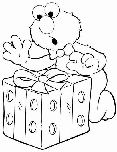 Elmo Coloring Birthday Pages Printable Happy Sesame