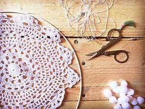 Tutoriel Attrape Rêve : dreamcatcher attrape r ve diy facile napperon au crochet dentelle perles co ~ Voncanada.com Idées de Décoration