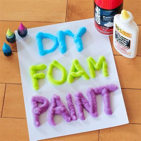 3 ingredient diy foam paint