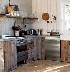 les 25 meilleures idees de la categorie cuisine rustique With kitchen cabinets lowes with 4 murs papiers peints