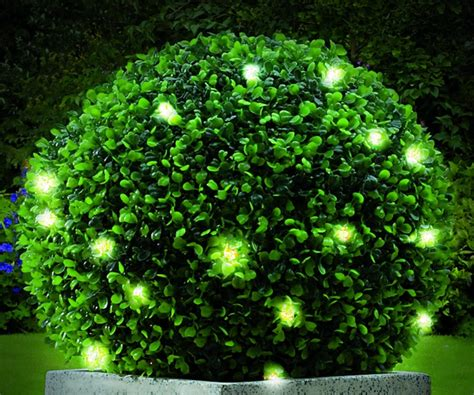pair  cm artificial topiary ball  lights