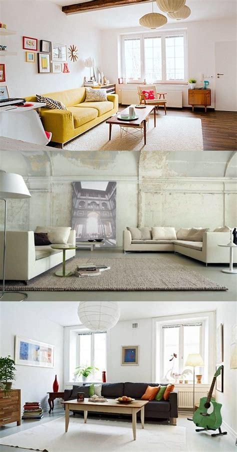 decorate  living room  white walls interior
