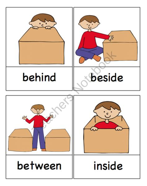 preschool prepositions 6 best images of free printable preposition cards free 900