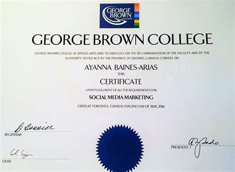 social media marketing certificate about ab arias assistance