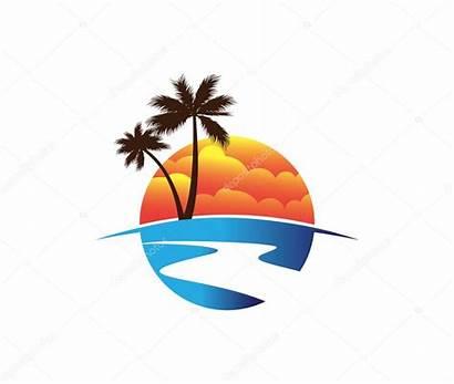 Coconut Tree Island Sunset Inspiration Travel Tour