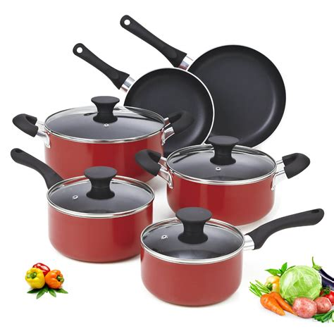 pcs classic press aluminum nonstick cookware set  home cooking
