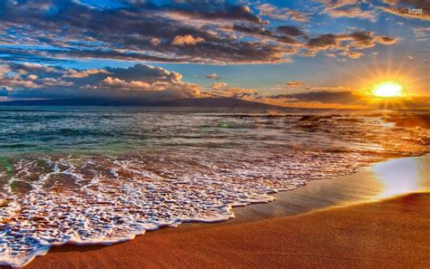 Beach At Sunrise Wallpapers  Beach At Sunrise Stock Photos