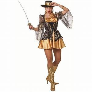 Kostüm Musketier Damen : musketier kost m f r damen gold blau ~ Frokenaadalensverden.com Haus und Dekorationen